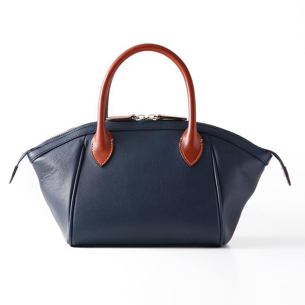 レディースバッグで人気のネイビーハンドバッグ